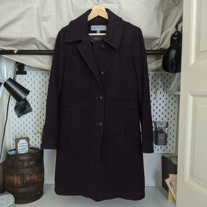 Anne Klein Lambswool Cashmere Purple Jacket Size 6